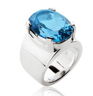 15CT LONDON BLUE TOPAZ + SOLID STERLING SILVER