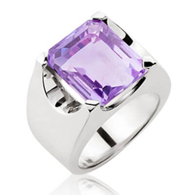 10CT AMETHYST + SOLID STERLING SILVER DAY RING . ALSO AVAILABLE TO ORDER IN CITRINE + BLUE TOPAZ