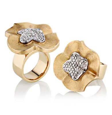 DIAMONDS IN 9K + 18K YELLOW + WHITE GOLD