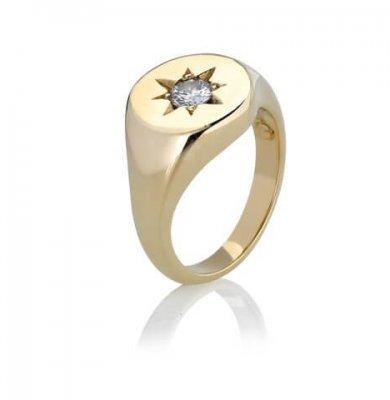 0.7CARAT OLD CUT DIAMOND + SOLID 9K YELLOW GOLD